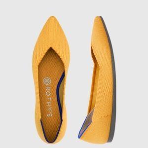 Rothys Marigold Pointed Toe Flats